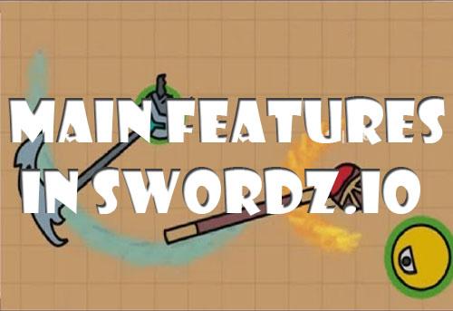 Main features in Swordz.io